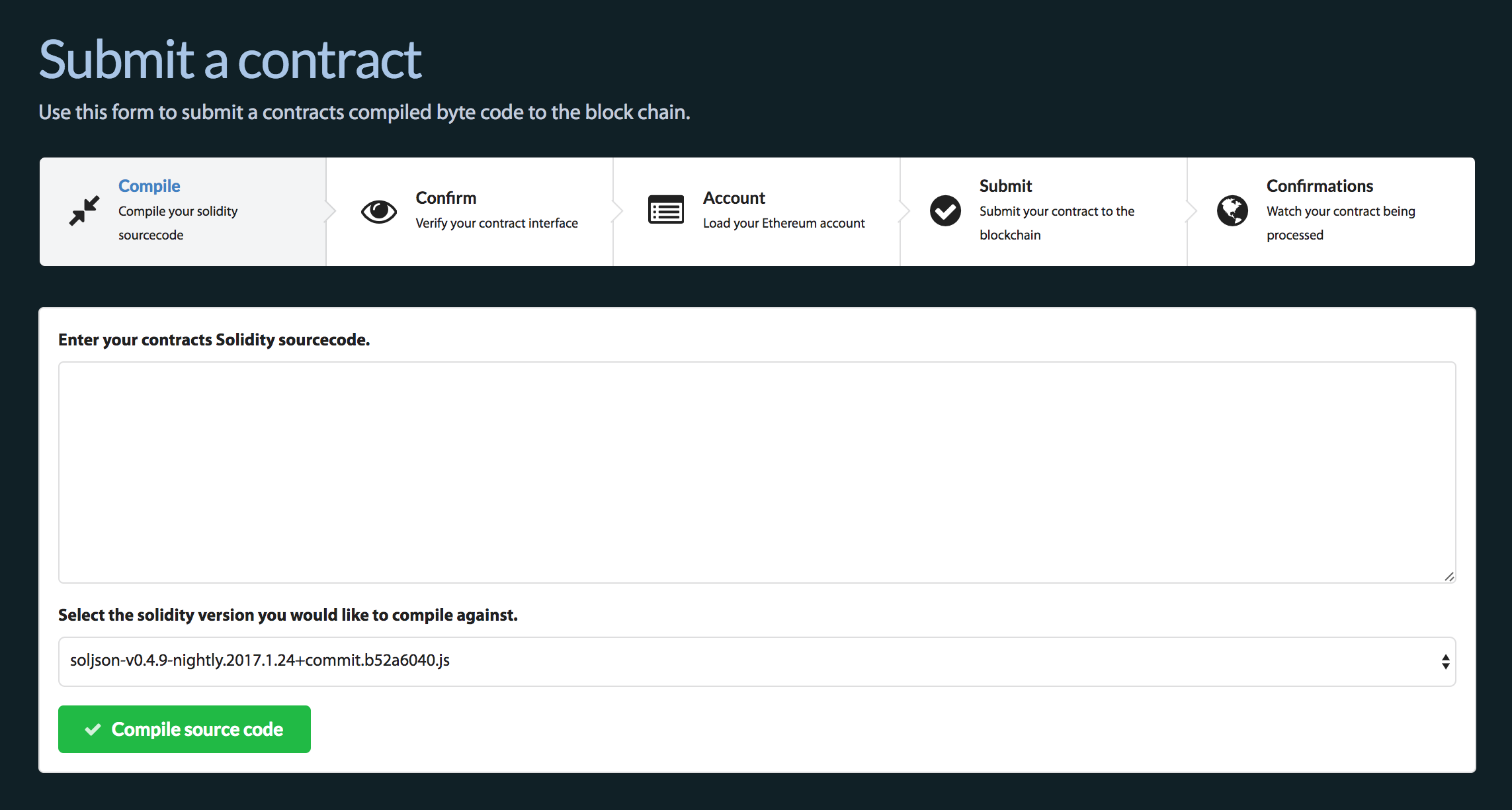 Submit a contract in easy steps