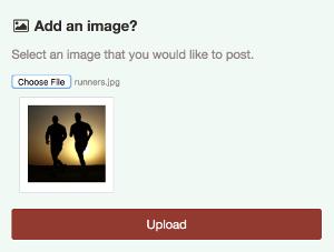 Uploading an image