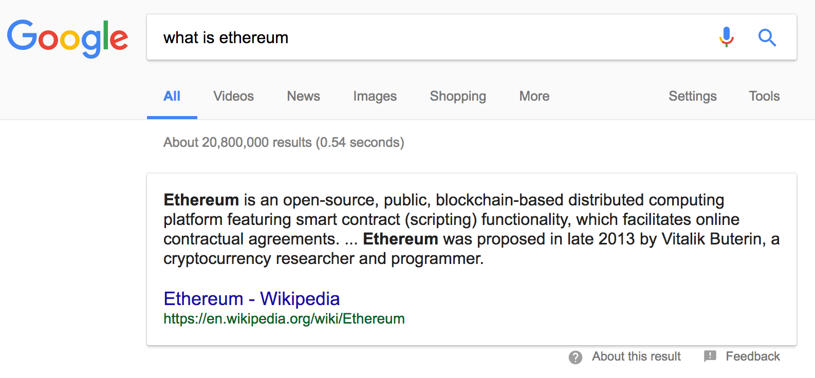 Do you even.. Ethereum