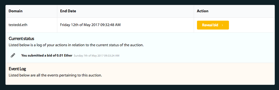Your auctions