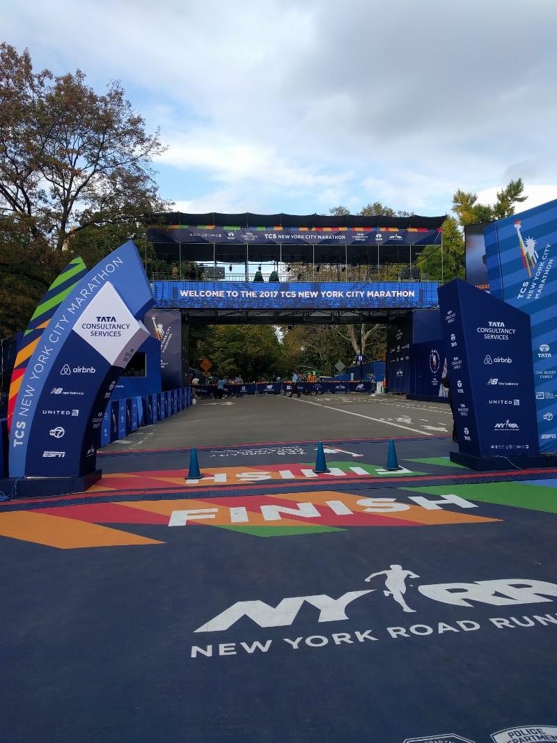 The NYC Marathon finish line