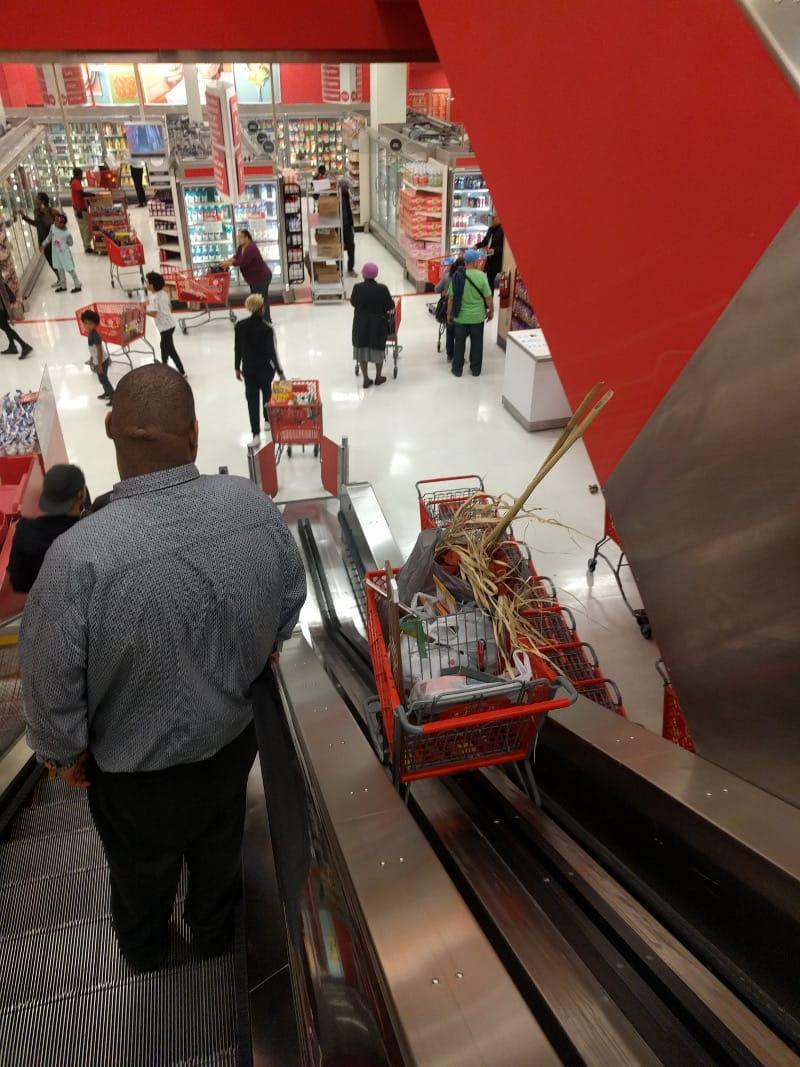 Trolley escalator