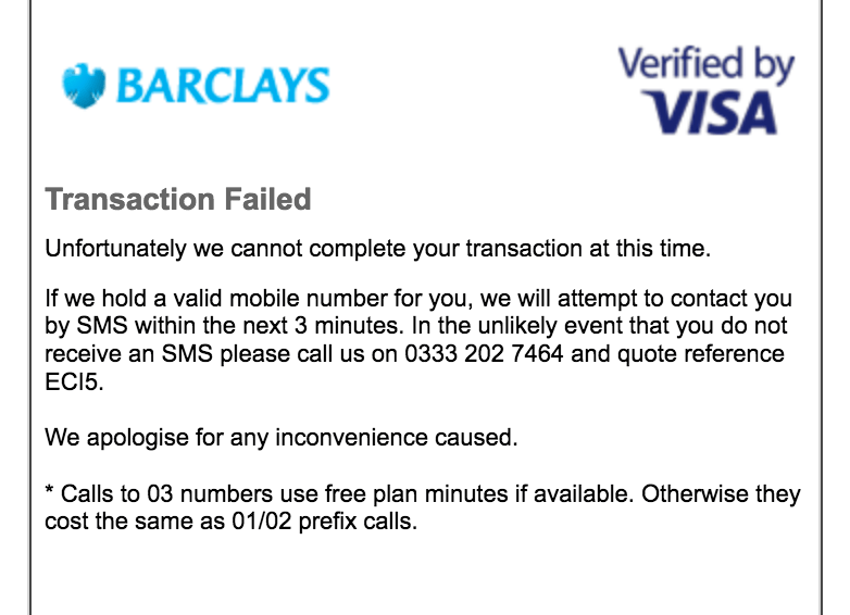 Barclays verification