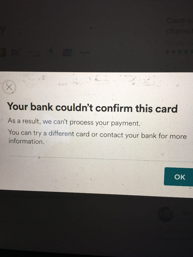 Bank could not confirm