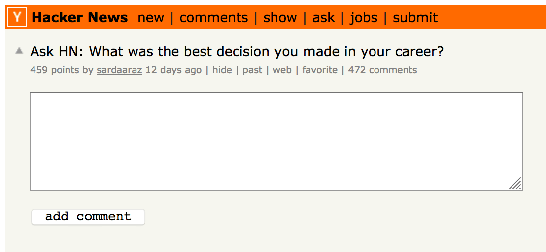 Ask Hacker News - Insights for life.
