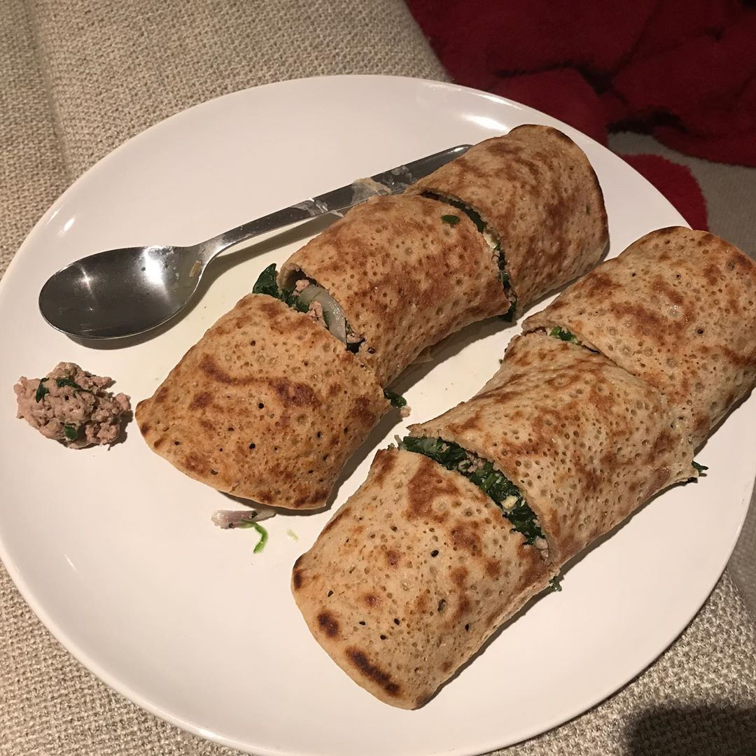 Lamb and spinach oatcakes