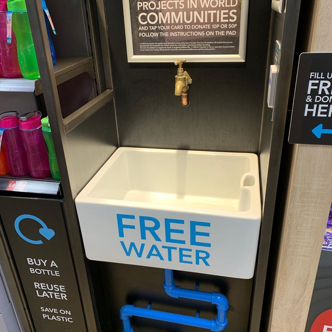 The coop at Piccadilly gives you free water
