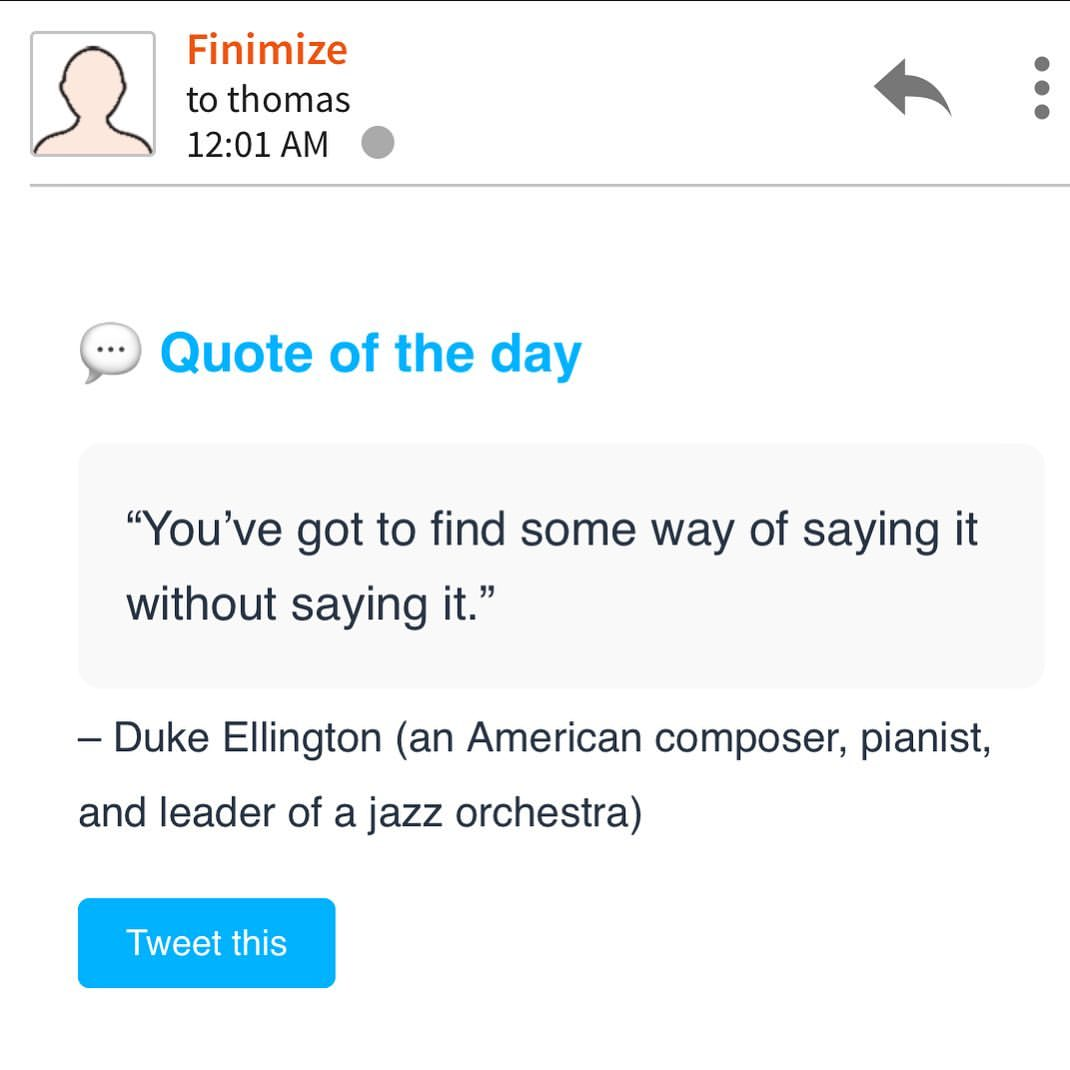 @finimize going deep as per