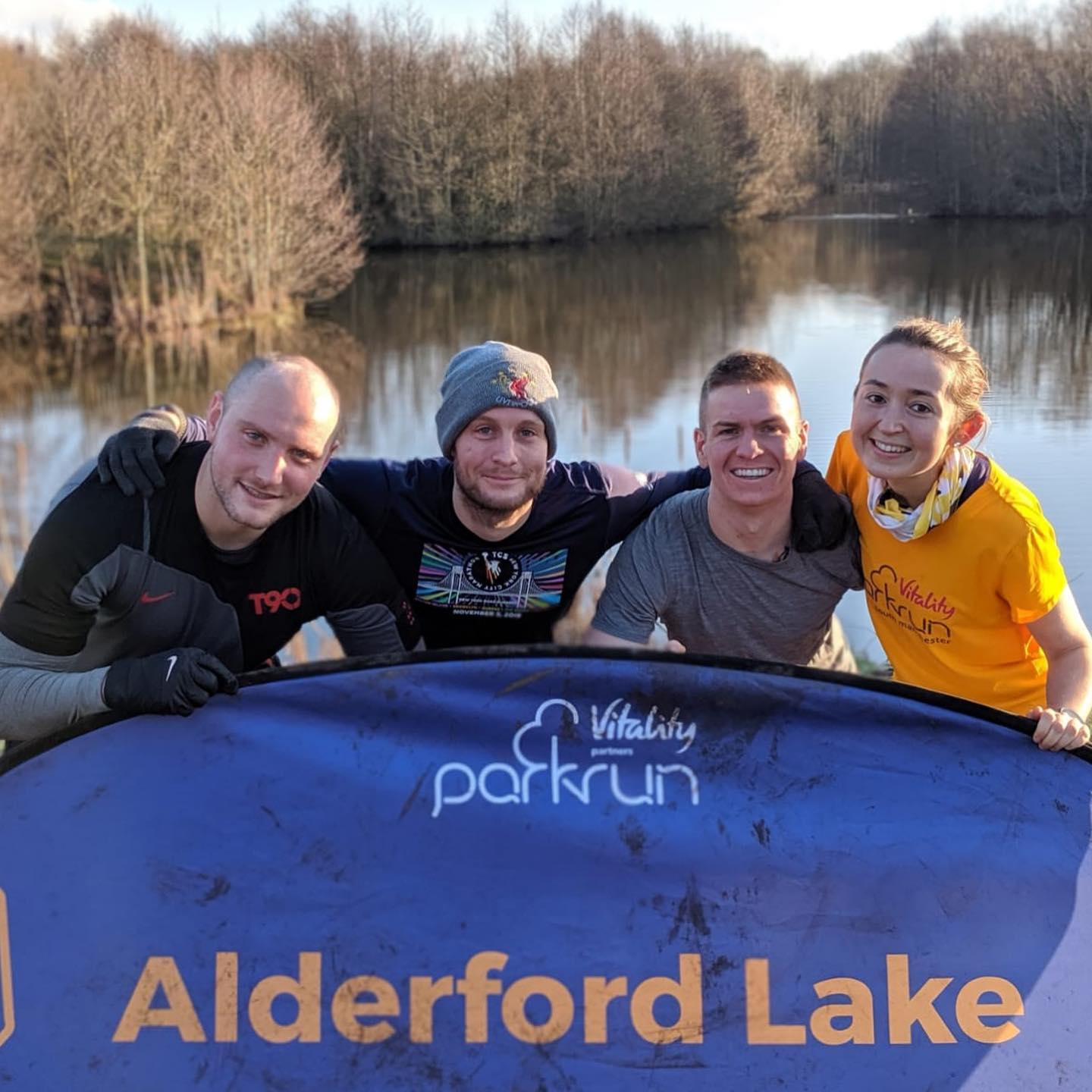 parkrun with family and friends at @alderford_lake @parkrunuk #iwon #loveparkrun #parkruntourists #parkruntourism #parkrun #lake #whitchurch #running #runners #alderfordlake